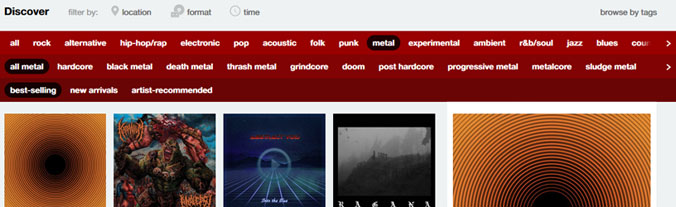 bandcamp discover