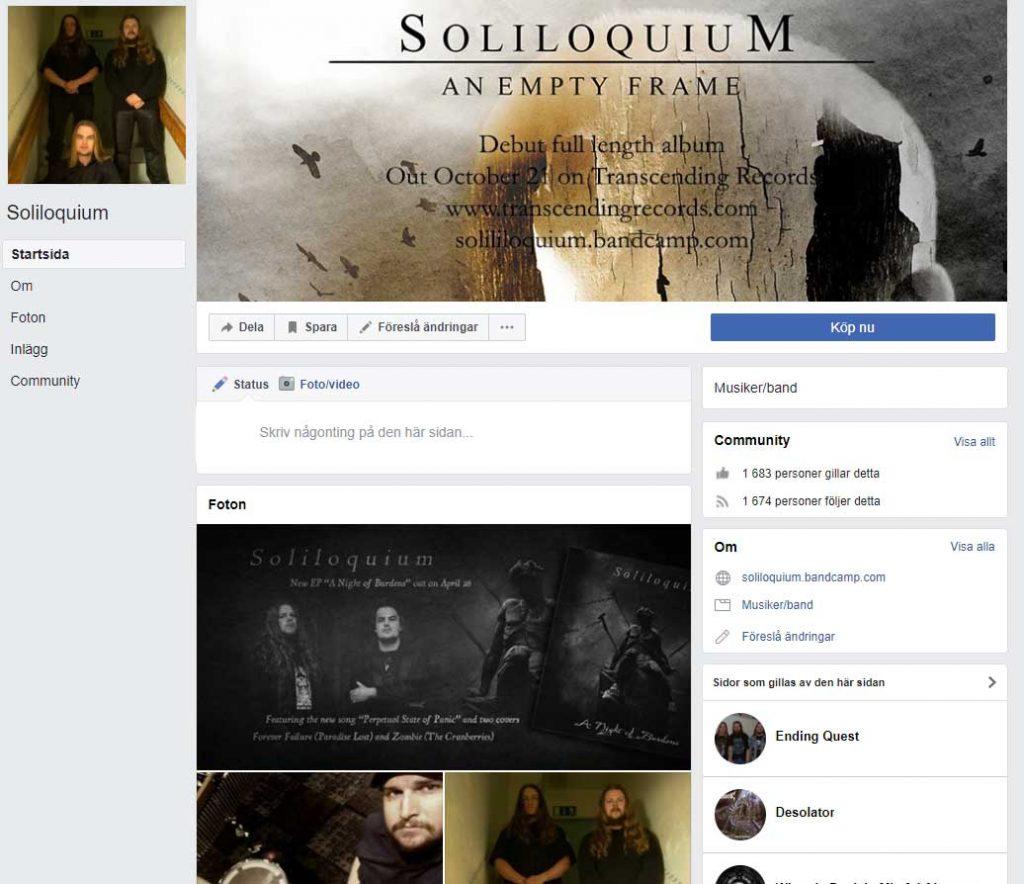 Soliloquium Facebook page design
